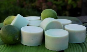 Lime and Coconut Soap with Coconut Cream